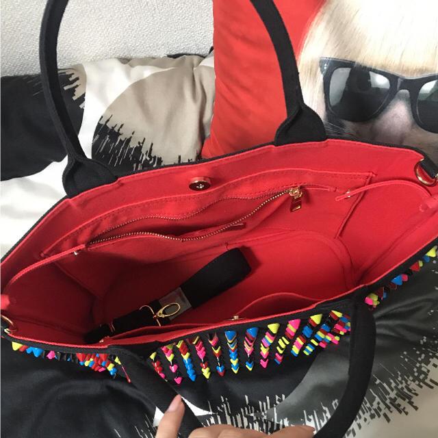 DIAVEL♡マルチカラースタッズトート レディースのバッグ(トートバッグ)の商品写真