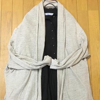 ネストローブ(nest Robe)のnest robe ネストロープ リネンカーデ  美品(カーディガン)