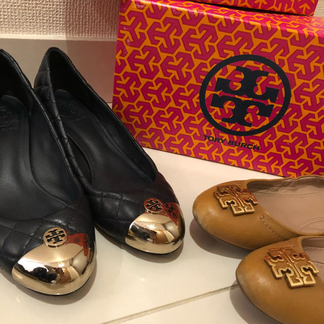 Tory Burch(トリーバーチ)の交渉中!!♡24.0〜24.5 トリーバーチ♡パンプス2足セット レディースの靴/シューズ(ハイヒール/パンプス)の商品写真