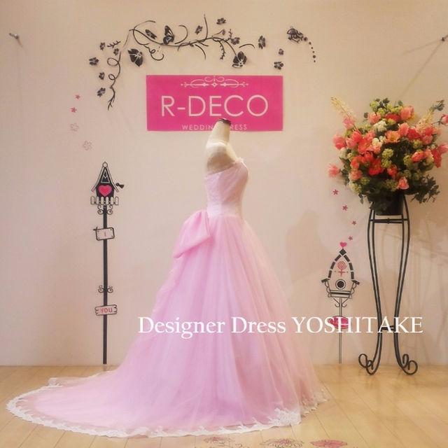 ウエディングドレス(パニエサービス)カラードレス 披露宴お色直し レディースのフォーマル/ドレス(その他ドレス)の商品写真