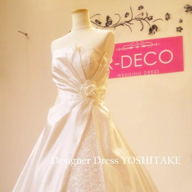ウエディングドレス(パニエ無料サービス) Aラインロングトレーン刺繍入り レディースのフォーマル/ドレス(その他ドレス)の商品写真
