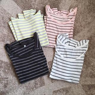 ムジルシリョウヒン(MUJI (無印良品))の4枚セット ☺︎ 無印良品 ボーダーTシャツ(Tシャツ(長袖/七分))