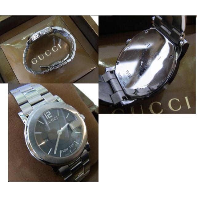 Gucci(グッチ)の美品!グッチ GUCCI★デイデイト Gモチーフ ブラック 腕時計 101M メンズの時計(腕時計(アナログ))の商品写真