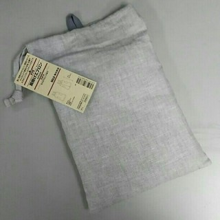ムジルシリョウヒン(MUJI (無印良品))の新品  無印良品 麻 肩掛けエプロン・生成M(収納/キッチン雑貨)