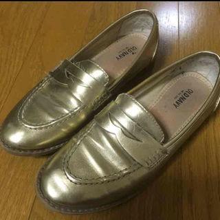 ゴールドローファー(^-^)値下げ(ローファー/革靴)