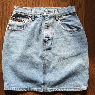 カルバンクライン(Calvin Klein)のカルバン・クライン デニムミニスカート ビンテージ(ミニスカート)