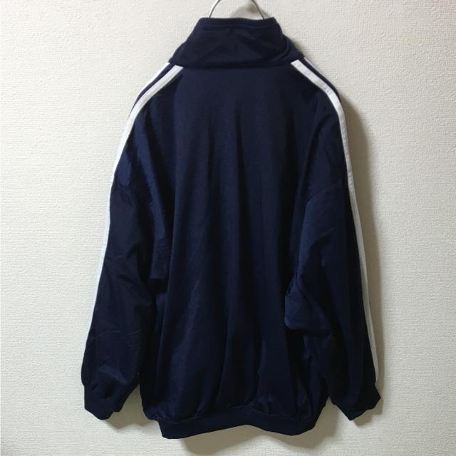 adidas(アディダス)のVintage 90's adidas ジャージ トラックトップ ロゴ 紺白 M メンズのトップス(ジャージ)の商品写真
