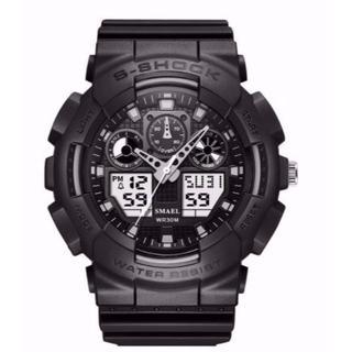 送料無料 S-SHOCK LED 防水腕時計 Sショック デジアナ SMAEL(腕時計(デジタル))
