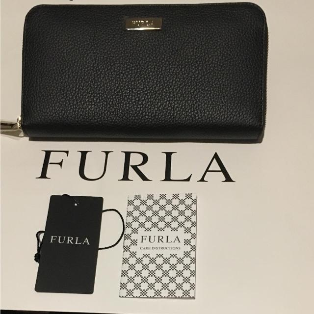 863709e0565d Furla - フルラ 長財布 新品!ロゴプレート ブラック の通販 by kate's ...