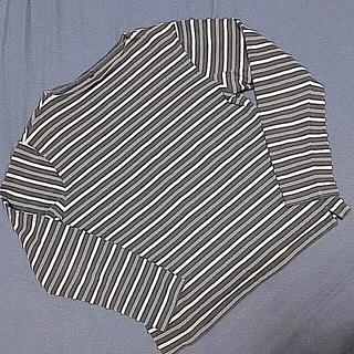 ムジルシリョウヒン(MUJI (無印良品))の無印良品 ボートネック ボーダー バスクシャツ 長袖 L(Tシャツ/カットソー(七分/長袖))