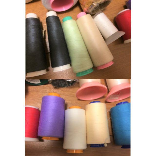 【お買い得】ロックミシン糸37点セット ハンドメイドの素材/材料(生地/糸)の商品写真