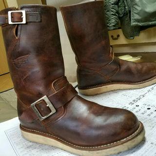 レッドウィング(REDWING)のREDWING レッドウイング 2971 エンジニア カッパー ラフ&タフ 6D(ローファー/革靴)