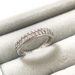 ディノス(dinos)の刻印あり  k18wg  パヴェダイヤリング(リング(指輪))