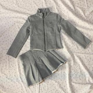 アルマーニ ジュニア(ARMANI JUNIOR)の美品 アルマーニジュニア、6歳 スウェットブルゾン スカート セットアップ(その他)