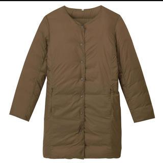 ムジルシリョウヒン(MUJI (無印良品))の新品 無印良品 軽量 フレンチダウンポケッタブルコート 婦人XL・ブラウン 新品(ダウンコート)