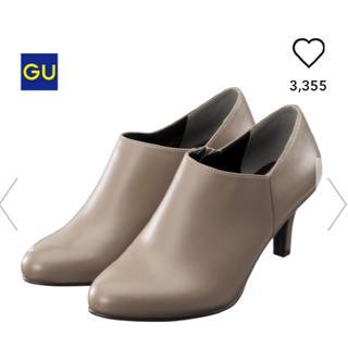 ジーユー(GU)の美品 GU 上品 ベージュ ブーティ L 23.5〜24.0 24.5