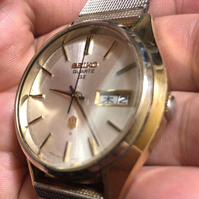 SEIKO(セイコー)のSEIKO QZ ゴールドキャップ デイデイト メンズの時計(腕時計(アナログ))の商品写真