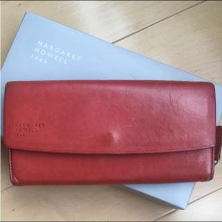 マーガレットハウエル(MARGARET HOWELL)のマーガレットハウエルの長財布レッド(財布)