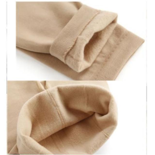 寒い日に暖かくオシャレに過ごす★肌触り良く暖かいタイツ(パープル)(トレンカ) レディースのレッグウェア(タイツ/ストッキング)の商品写真