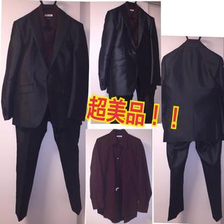 エービーエックス(abx)の超美品!定価9万弱abx光沢スーツ&シャツセット!成人式、結婚式、ホスト(セットアップ)