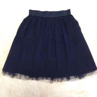 バーニーズニューヨーク(BARNEYS NEW YORK)のチュールスカート(ひざ丈スカート)