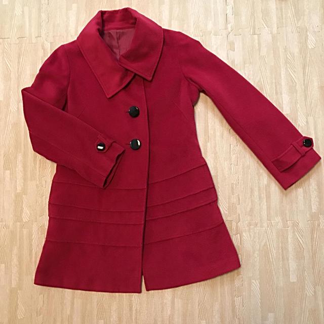 ビビッドなピンクのコート レディースのジャケット/アウター(ロングコート)の商品写真