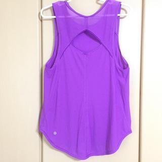 ルルレモン(lululemon)のルルレモン Singlet purple 6(ヨガ)