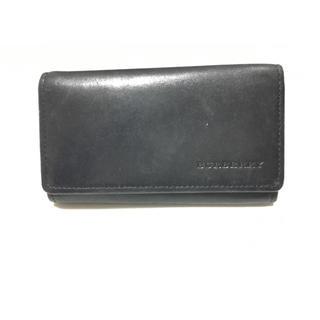 バーバリー(BURBERRY)の正規★美品★BURBERRY バーバリー 5連キーケース 鍵 ラムスキン 黒 鞄(キーケース)