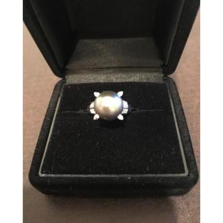 黒真珠ダイヤプラチナリング(リング(指輪))
