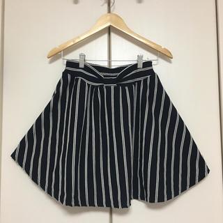 オリーブデオリーブ(OLIVEdesOLIVE)のOLIVE des OLIVEストライプ柄スカート(ひざ丈スカート)