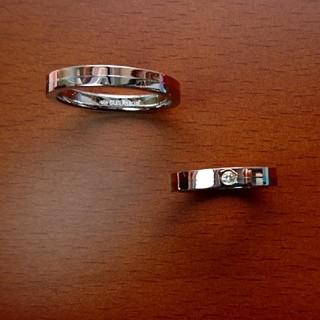 エテ(ete)のete k18GFSUS ダイヤモンド・k18GF SUS ペアリング(リング(指輪))