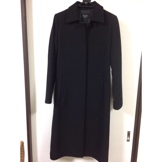 黒コート レディースのジャケット/アウター(ロングコート)の商品写真