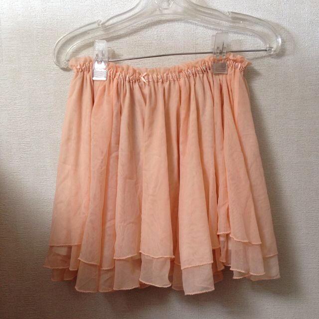 LOWRYS FARM(ローリーズファーム)のチュールスカート オレンジピンク レディースのスカート(ミニスカート)の商品写真