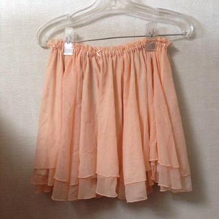 ローリーズファーム(LOWRYS FARM)のチュールスカート オレンジピンク(ミニスカート)