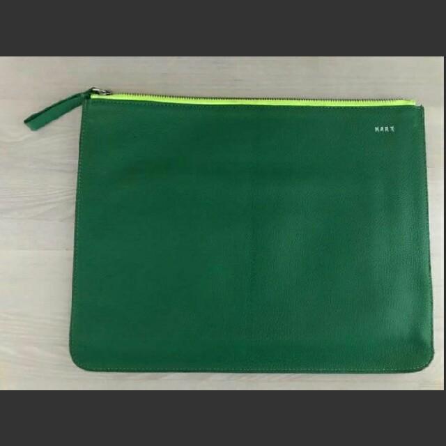 LOVELESS(ラブレス)のKART クラッチバック グレーxグリーンxイエロー メンズのバッグ(セカンドバッグ/クラッチバッグ)の商品写真