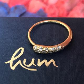 バーニーズニューヨーク(BARNEYS NEW YORK)のk18humダイヤモンドリング(リング(指輪))
