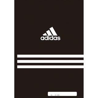 アディダス(adidas)の新品 adidas アディダス ノート B5 A罫(7mm) 30枚 ブラック(記念品/関連グッズ)