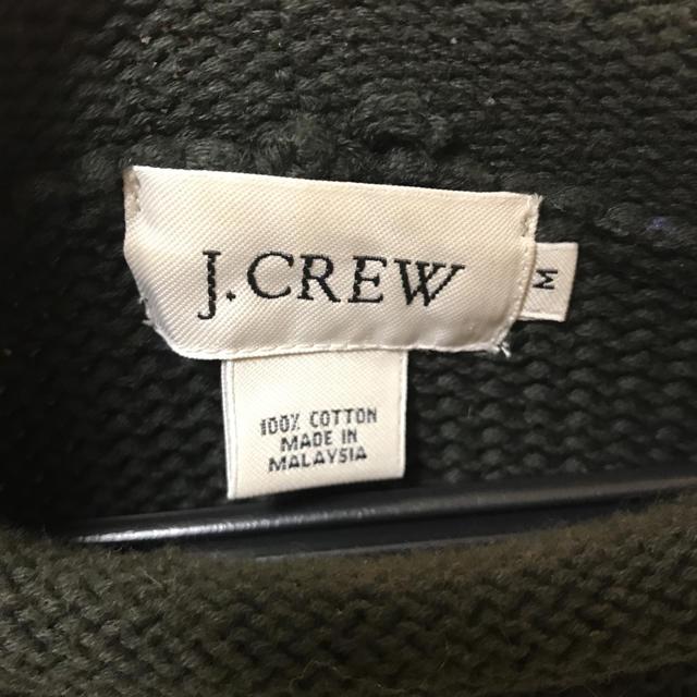 j.crew  ダークグリーンニット メンズのトップス(ニット/セーター)の商品写真