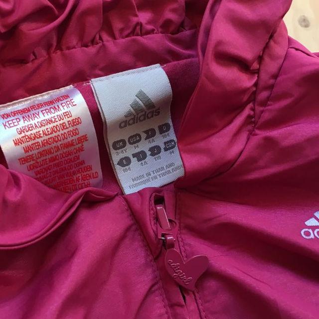 adidas(アディダス)の激カワ❤️アディダス ウインドブレーカー キッズ/ベビー/マタニティのキッズ服 女の子用(90cm~)(ジャケット/上着)の商品写真