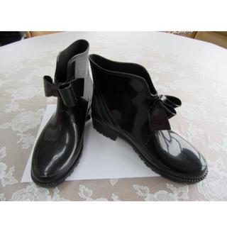 レッドヴァレンティノ(RED VALENTINO)のレッドヴァレンティノレインブーツ新品リボン(ブーツ)