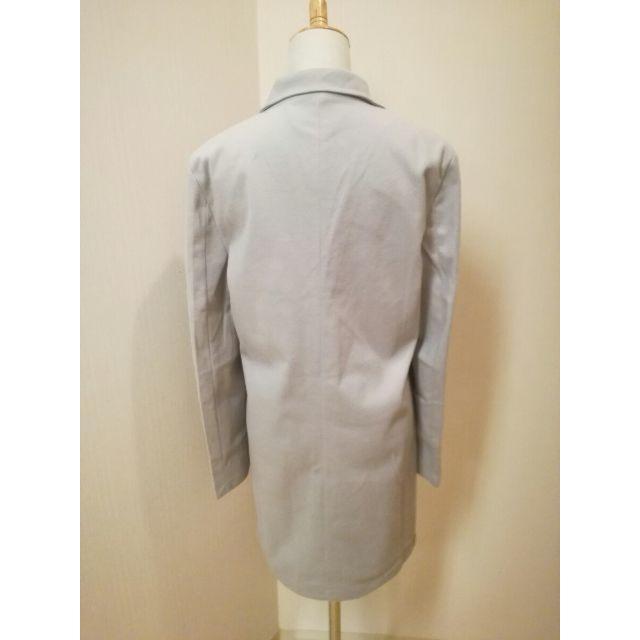 値下げしました♪ メンズチェスターコート ロングコート グレー M メンズのジャケット/アウター(チェスターコート)の商品写真