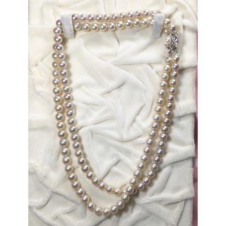 オリジナル(Original)の真珠 パール あこや ネックレス  2連  6.8mm&7.2mm(ネックレス)