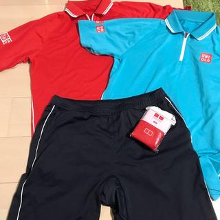 ユニクロ(UNIQLO)のユニクロ テニスウェア 錦織圭モデル 2015 L(シャツ赤のみ)(その他)