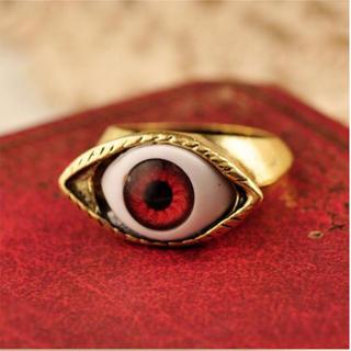 目玉 レッドアイ 指輪 義眼(リング(指輪))