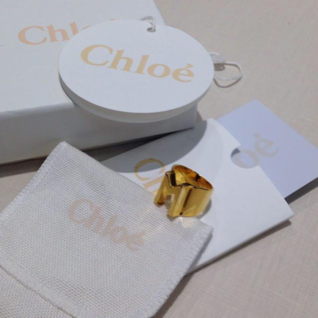 Chloe(クロエ)の美品 Chloe イニシャルリング アルファベット レディースのアクセサリー(リング(指輪))の商品写真