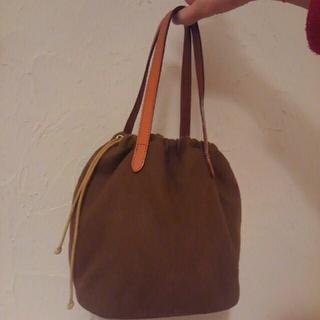 ムジルシリョウヒン(MUJI (無印良品))の無印良品 フェルト地 巾着型バッグ(ハンドバッグ)