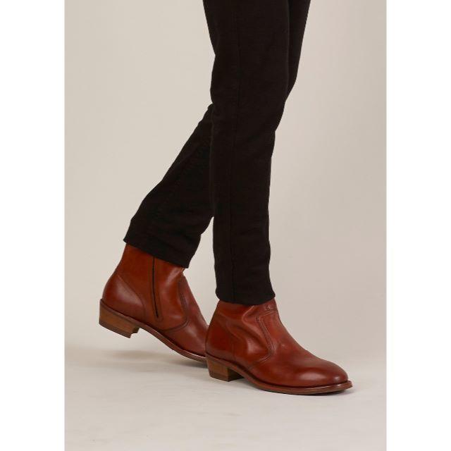 Maison Martin Margiela(マルタンマルジェラ)の新品!15aw Margiela マルジェラ レプリカ レザー ブーツ ブラウン メンズの靴/シューズ(ブーツ)の商品写真
