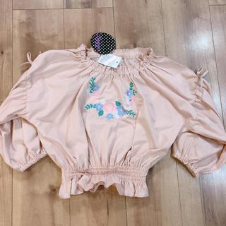 シマムラ(しまむら)の新品しまむら♡⃝刺繍カットソートップス130(Tシャツ/カットソー)