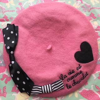 スイマー(SWIMMER)のSWIMMER ベレー帽 ピンク(ハンチング/ベレー帽)