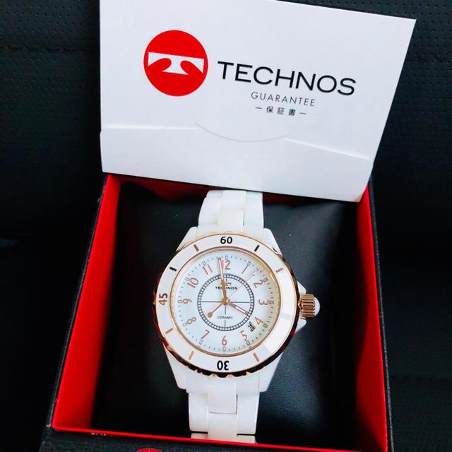 TECHNOS(テクノス)のテクノス TECHNOS 時計 白 メンズの時計(腕時計(アナログ))の商品写真